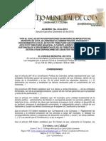 Acuerdo 024 30-Dic-10 Cota