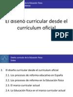 2. El diseño curricular desde el currículum oficial
