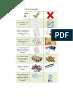 Ficha de separación de desechos