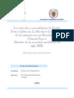 s de Benito Perez Galdos en La Nacion y La Influencia de Los Mismos en Sus Novelas de La Primera Epoca Retrato de La Sociedad Madrilena Del Siglo Xix 0