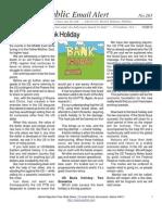 265 - The Coming Bank Holiday