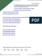 Tabla de equivalencias entre denominaciones norteamericanas AWG y Métricas