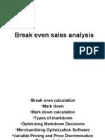 Break Even Sales