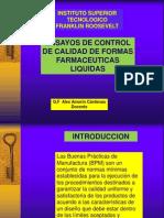 Ensayos de control de calidad de FF líquidas