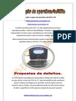 Manutenção e reparo de aparelhos de DVD e CD.