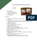 Tecnicas Para La Elaboracion de Productos Lacteos