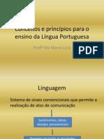 Conceitos e princípios para o ensino da Língua