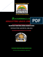 Blackherbals.com, Newsletters Quick Links Index / Archives