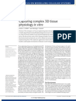 Capturing Complex 3D Physiology in vitro
