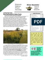 January 2010 Kansas Native Plant Society