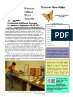 July 2011 Kansas Native Plant Society