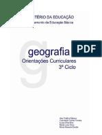 Orientações Curriculares para Geografia no 3º Ciclo