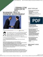 Obama.com Owned by Bundler in Shanghai