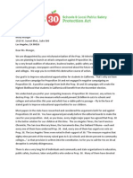 Prop 30 Letter to Molly Munger