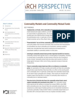 Commodity Markets and Commodity Mutual Funds