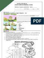 avaliação 3 bi 7 e