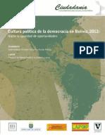 Informe LAPOP acerca de la Cultura Política de la Democracia 2012