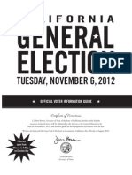California General Election November 6, 2012