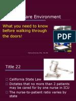 Critical Care Environment Intro Lecture
