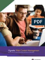 Vignette Web Content Management Brochure