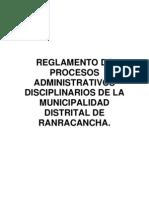 Plan 10463 Reglamento Procesos. Administrativos 2011