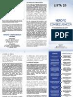 Verdad Consecuenca Plataforma 2012