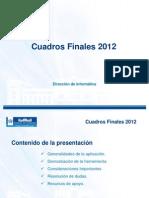 Presentación Cuadros Finales 2012