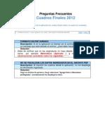 Preguntas frecuentes Estadística final 2012