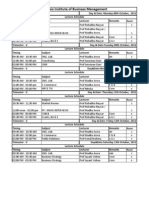 Class Schedule for Mail