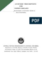 Book - Classical Ayurvedic Prescriptions for Common Diseases