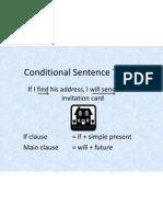 Conditional Sentence Type 1
