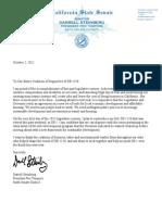 Steinberg Letter SB1