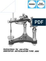 DENTATUS Articulator Manual