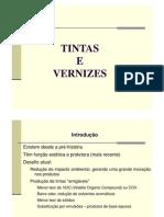 Tintas, Propriedades e Características