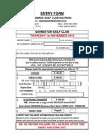 2012 Germiston Entry Form