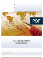 DAILY COMMODITY  REPORT BY EPIC RESEARCH- 9 OCTOBER 2012