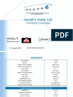 Havells India Ltd.-techno Research Report