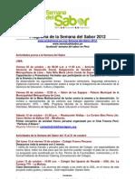 Programa Semana Del Sabor 2012