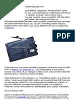 Batterie & Adaptateur dell alienware m11x