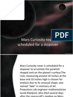 Mars Curiosity Rover Scheduled for a Stopover