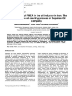 The Application of FMEA in the Oil Industry in Iran
