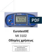 MI 3102 EurotestXE GREEK Manual