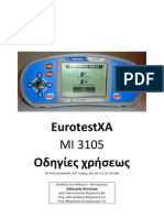 MI 3105 EurotestXA GREEK Manual