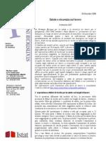 090114 ISTAT Statistic A Sicurezza Lavoro II Trim 2007