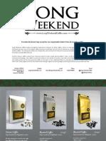 Products Brochure - Long Weekend Coffee
