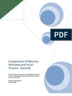 Whitepaper - Comparison of Marriot, Sheraton and Avari Towers - Karachi, Pakistan