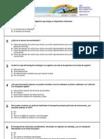 Test CAP Mercancías - Reglamentación