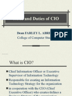 (Roles & Duties of CIO)