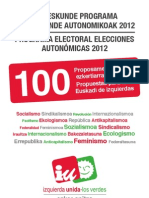 Ezker Anitza - IU Programa Electoral 2012