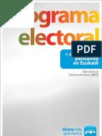 PP Programa-electoral 2012